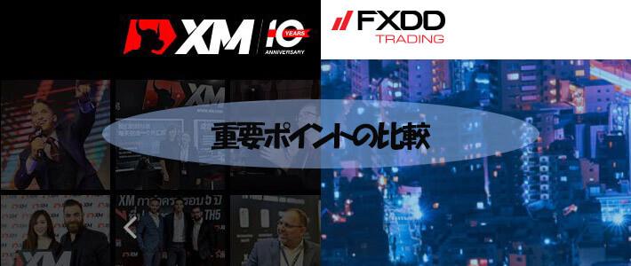 XMとFXDDの比較詳細