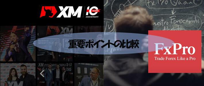 XMとFxProの比較の詳細